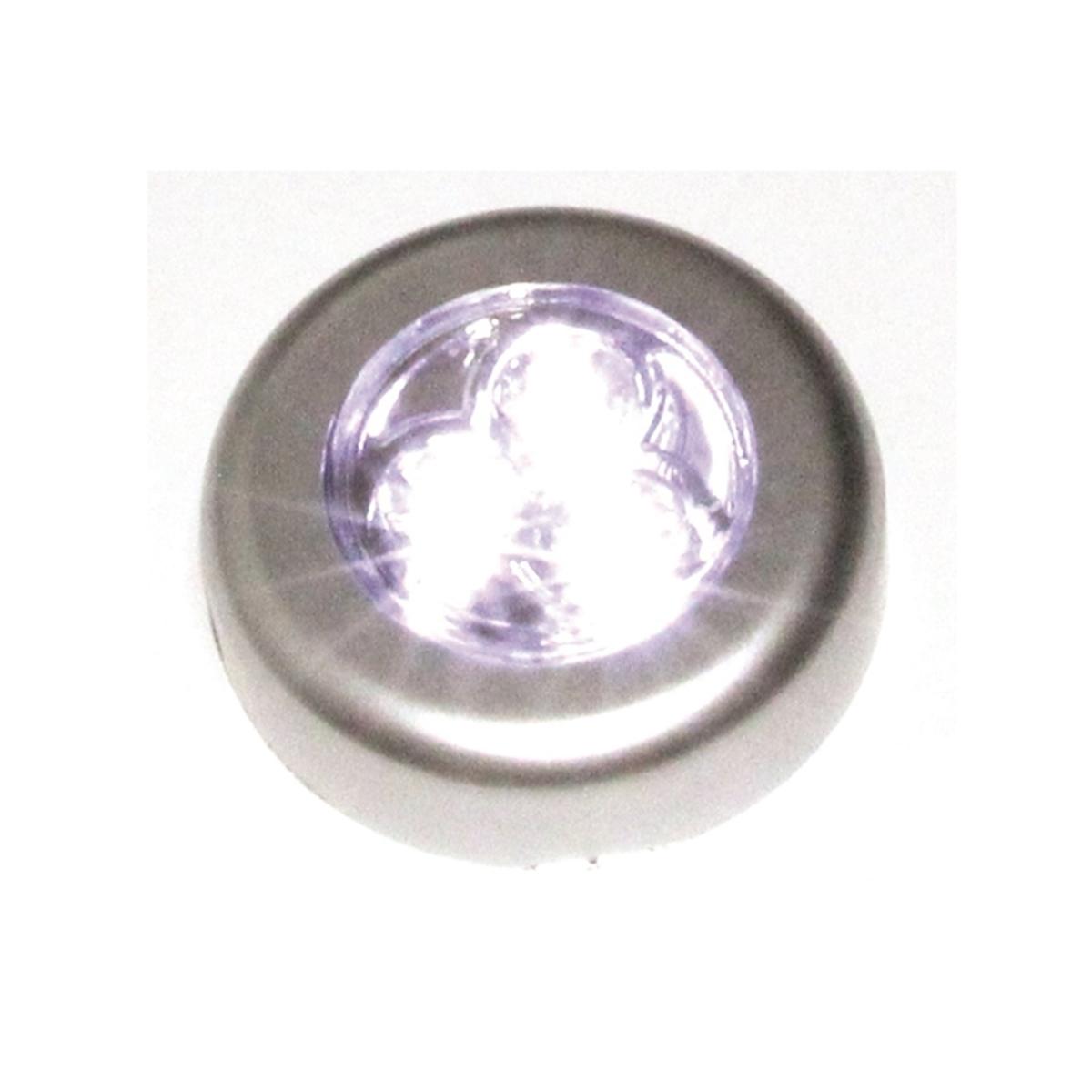 3020 1 Luminária De Toque 3 Leds Já Com Pilhas Armário Closet 3020