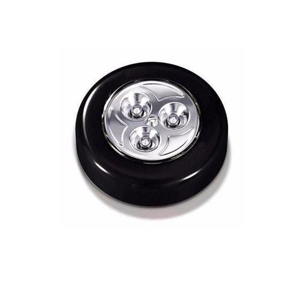 3020 3 Luminária De Toque 3 Leds Já Com Pilhas Armário Closet 3020