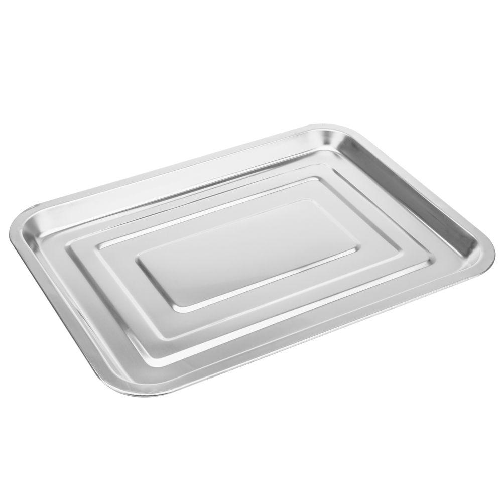 3 Bandejas Retangular 26x19X2cm  porção comida servir salada SS8539-3