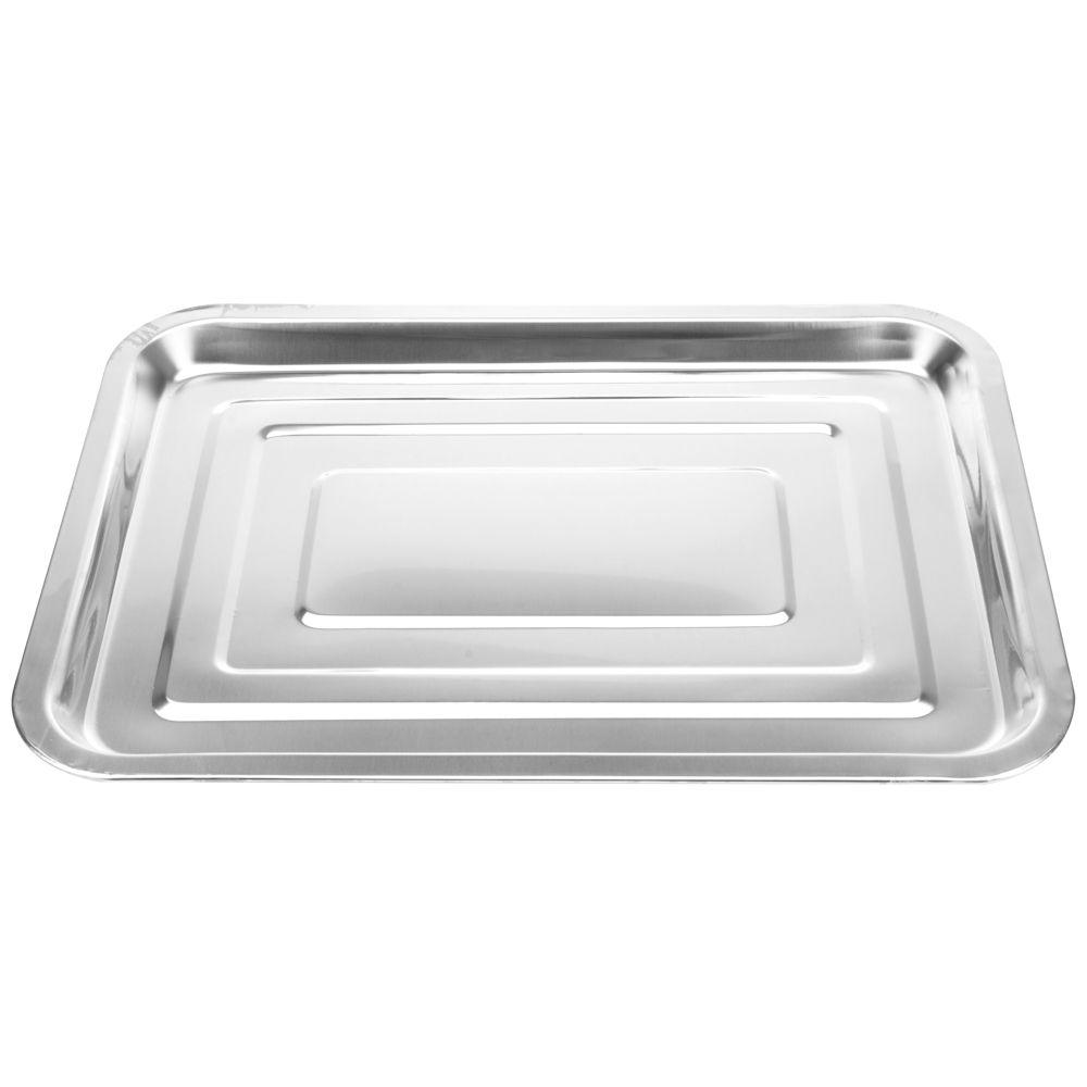 3 Bandejas Retangular 35x26X2cm  porção comida servir salada SS8541-3