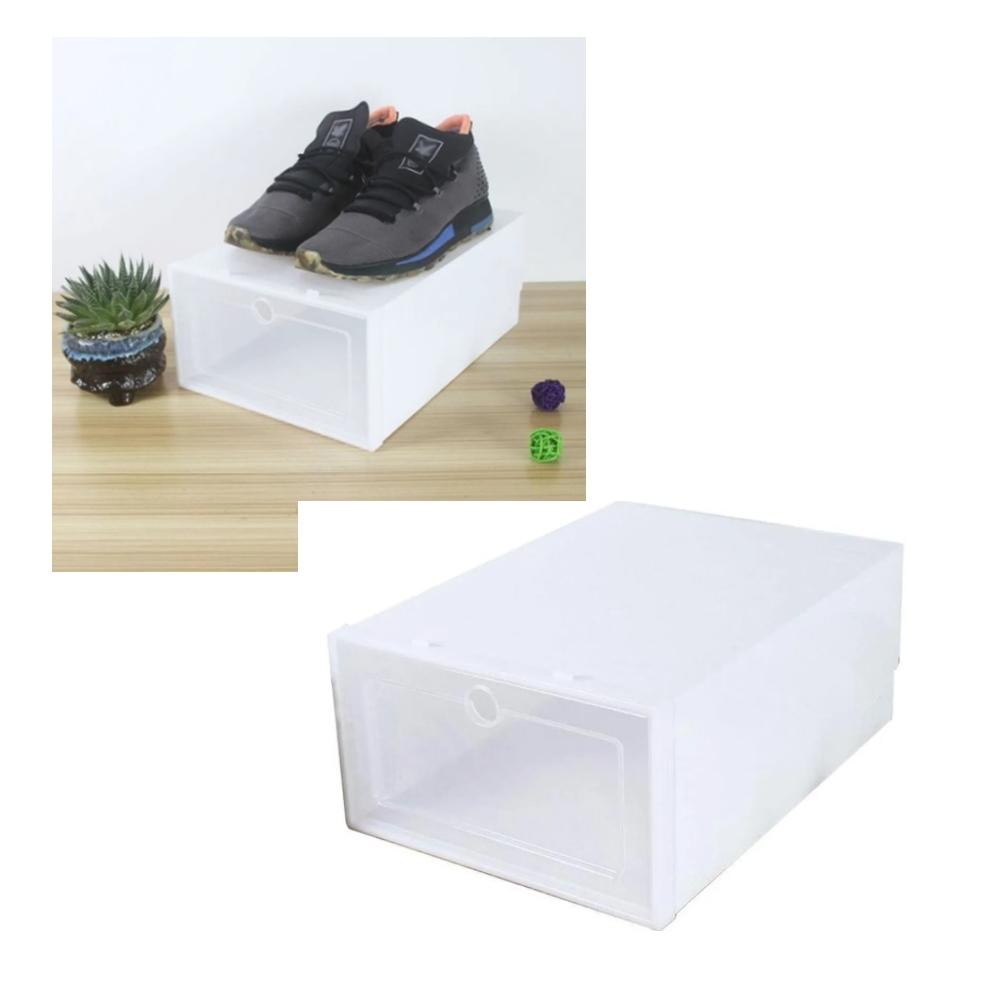 3 Caixas Organizador De Plástico Para Sapato Tênis AM-3002-3