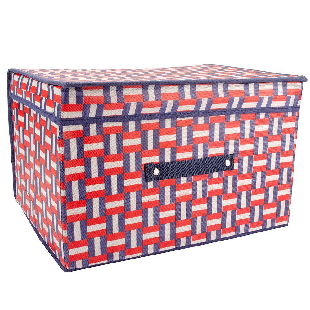 3 Caixas Organizadora Rígida estampada armários closet quarto F-94099-3
