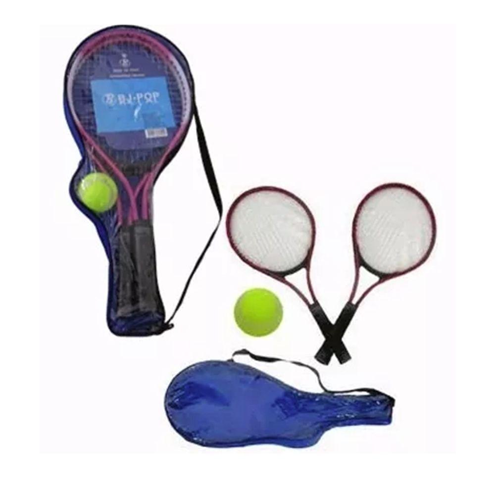 3 Kits Completo De Tênis 2 Raquetes De Tênis Com Bola E Capa Com Alça F-97512-3