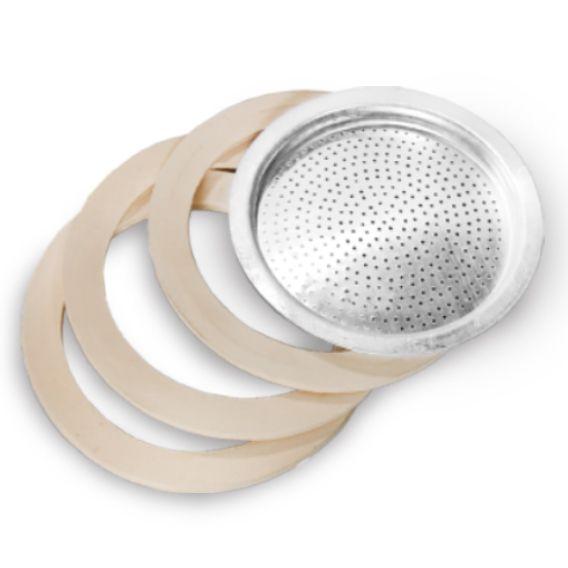 3 Kits Filtro para Cafeteira Italiana 12 Xicaras Ke Home 5819-3