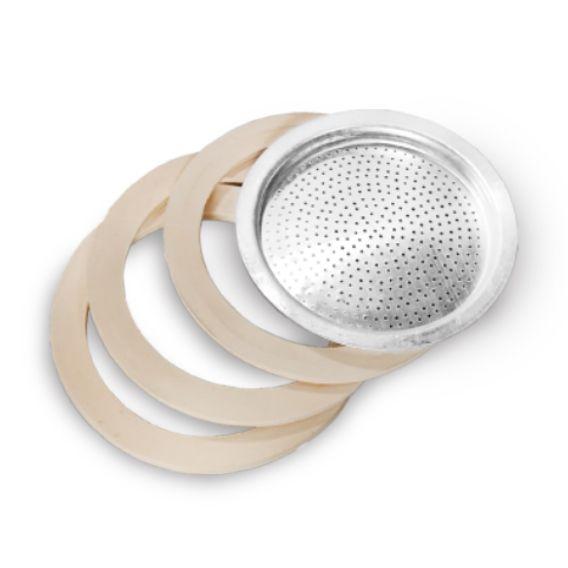 3 Kits Filtro para Cafeteira Italiana 9 Xicaras Ke Home 5818-3