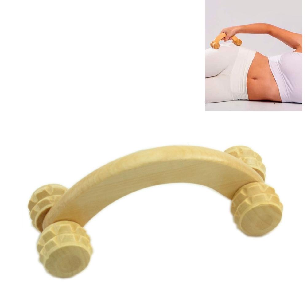 3 Massageador Massagem De Madeira Carrinho 4 Rodas TRC7679-3