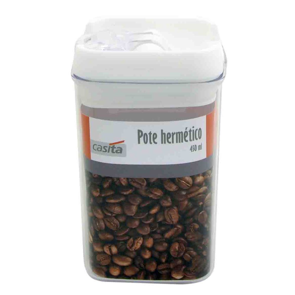 3 Potes hermético em poliestireno 450ml Casita HM015-3