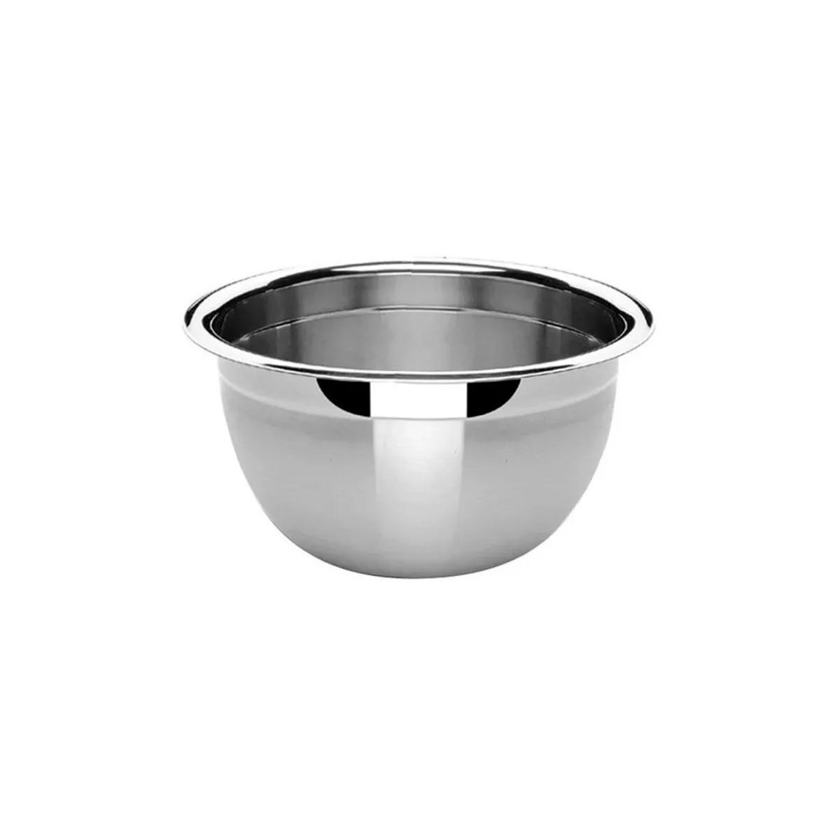 3 Tigelas Bowl Em Aço Inox 18,5 Cm Pratica e Durável Facilite.ud MX-3022-3