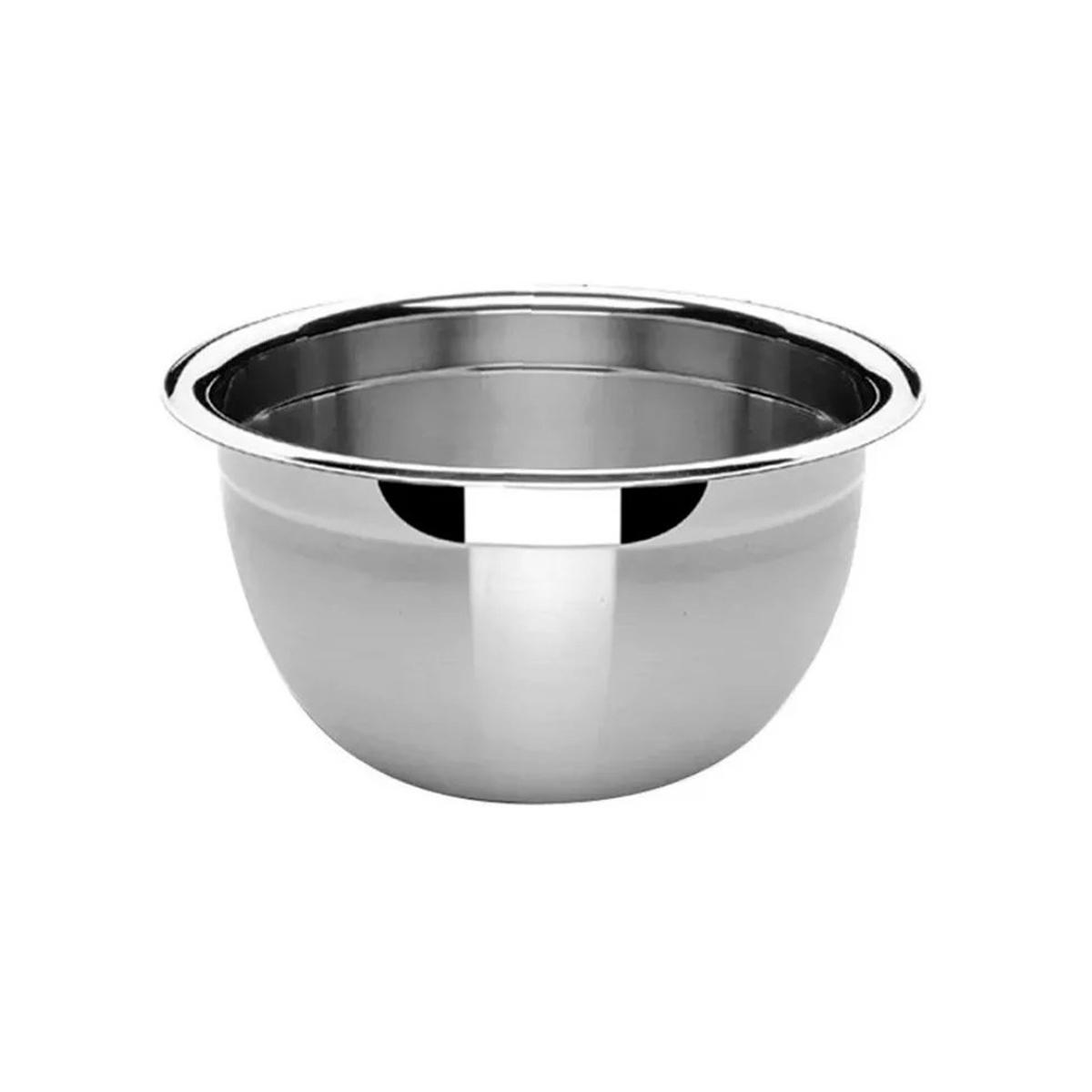 3 Tigelas Bowl Em Aço Inox 22 Cm Pratica e Durável Facilite.ud MX-3024-3