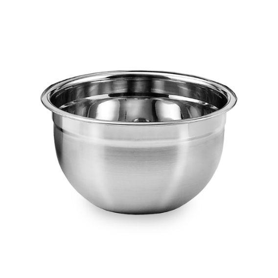3 Tigelas Mixing Bowl em aço Inox 26 Cm  Ke Home 3116-26-3