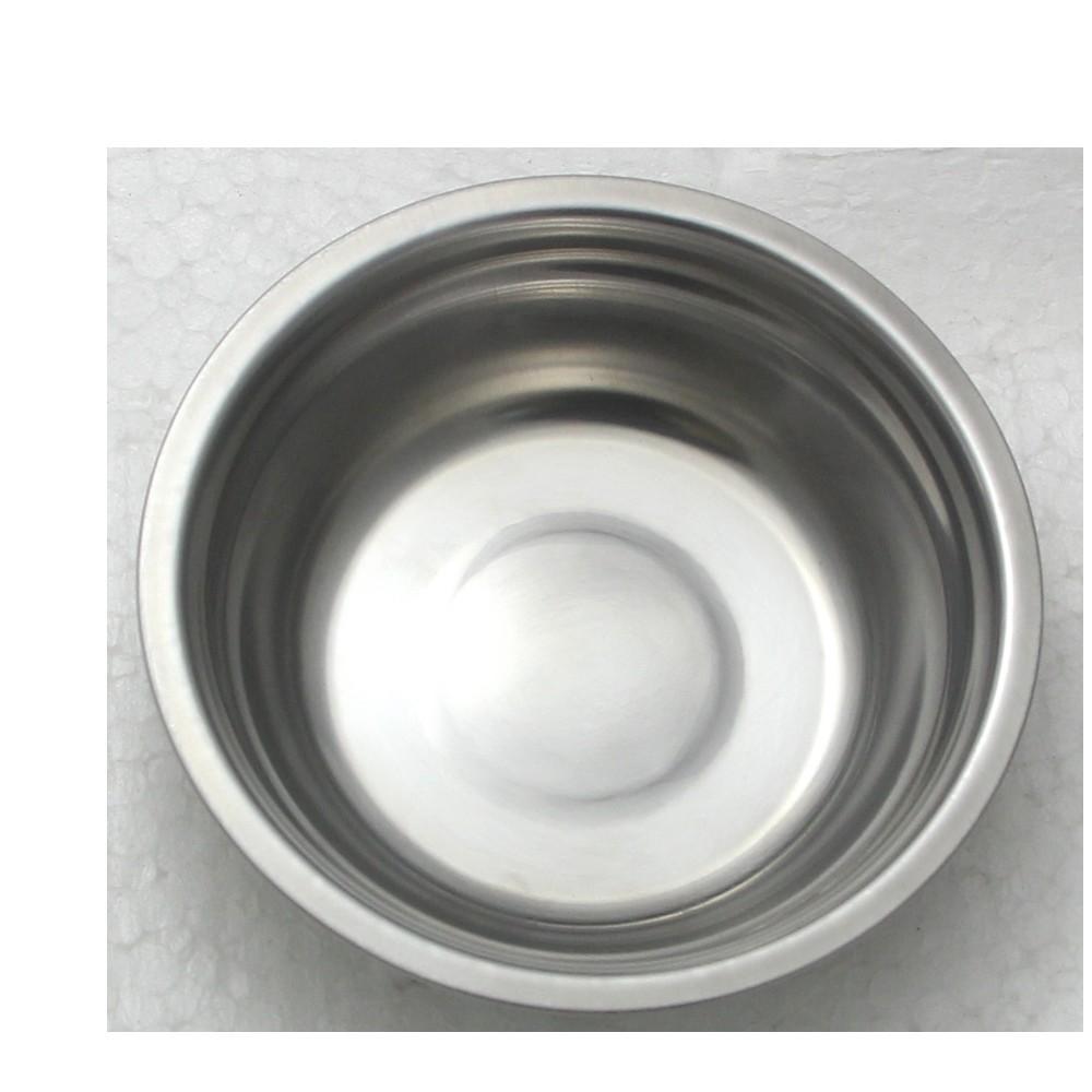 3 Tigelas Redonda Bacia em aço Inox 23cm Elite ELB0551-3