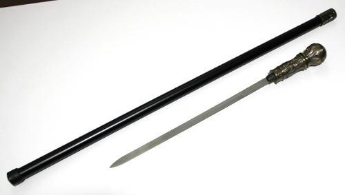Bengala Com Espada C/ Globo Tipo Cedro Decorado 90cm Metal 0100