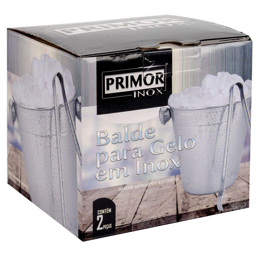 4 Baldes de Gelo Inox com pinça pegador 750 ml - nxn-11.0067-4
