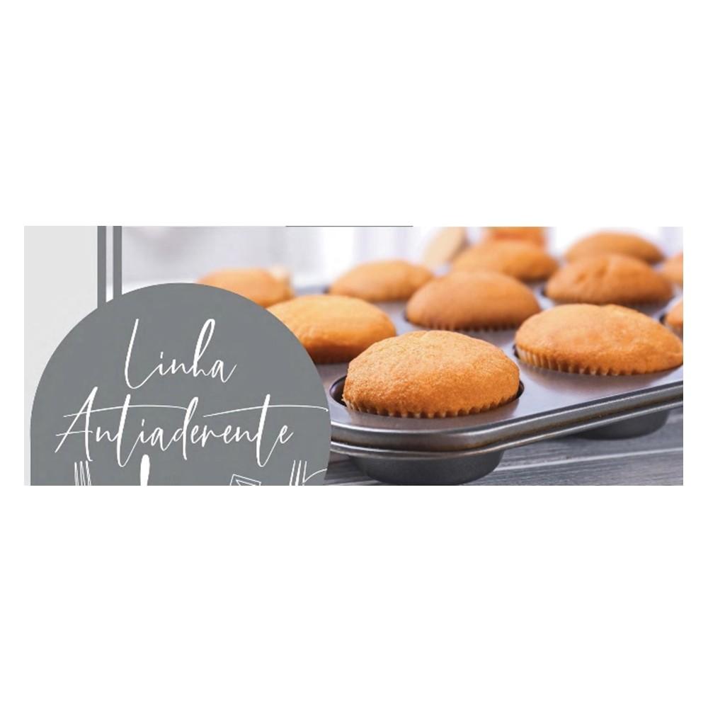 4 Formas De Cupcake 6 Cavidades Antiaderente Teflon Ingá IN10949-4