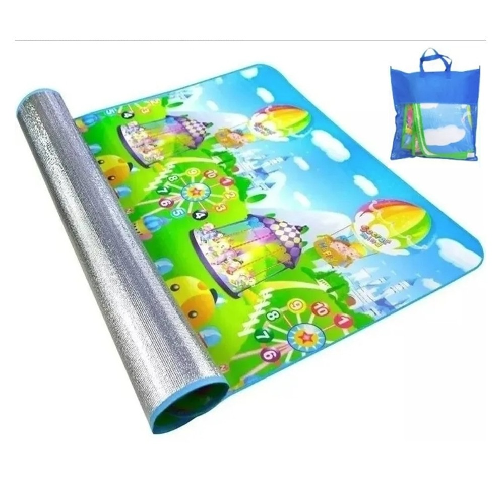 4 Tapetes Atividades Infantil Bolsa 0,90x1,20 Isolante Térmico IM43003-4