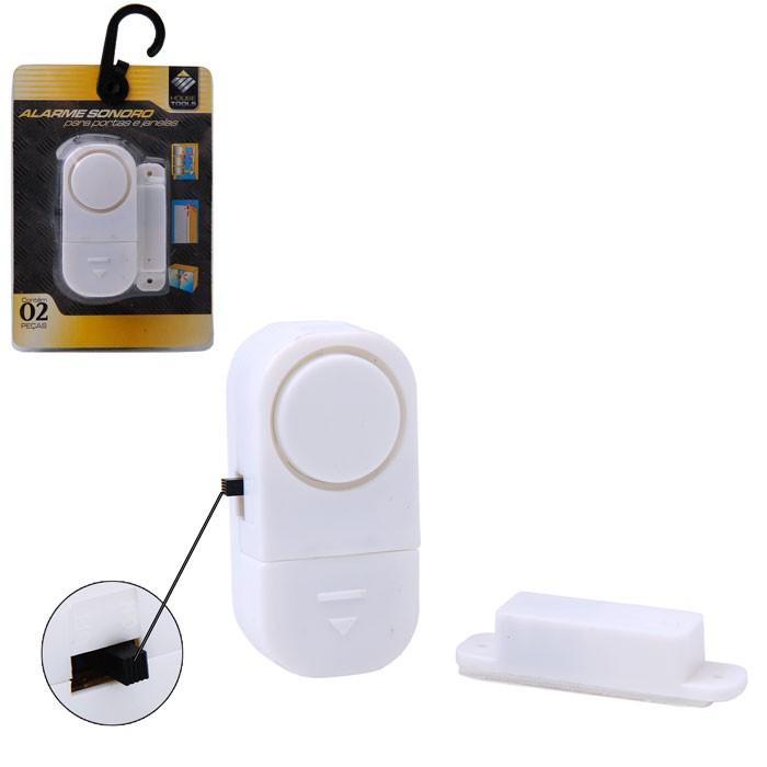 5 Alarme Sensor Magnético S/ Fio Residencial Porta Janela 6533