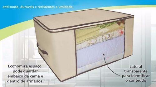 5 Caixa Organizadora Flexível Visor Armário 45x45x20 . 6571
