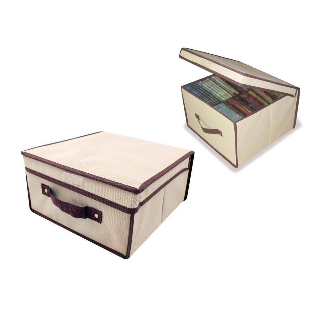5 Caixas Organizadora Rígida Armário Close 28x30x15 Casita