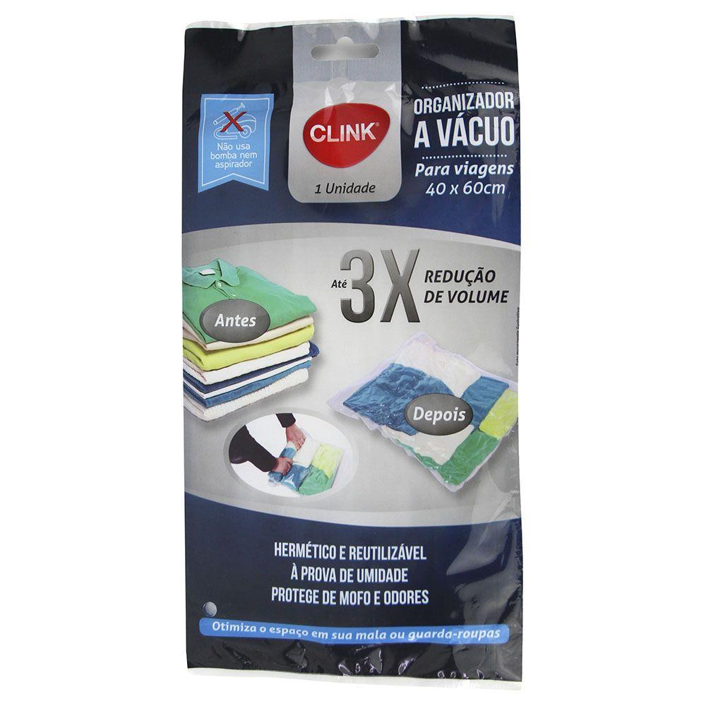 5 Sacos A Vácuo Organizador 40x60 não precisa de bomba CK2479-5