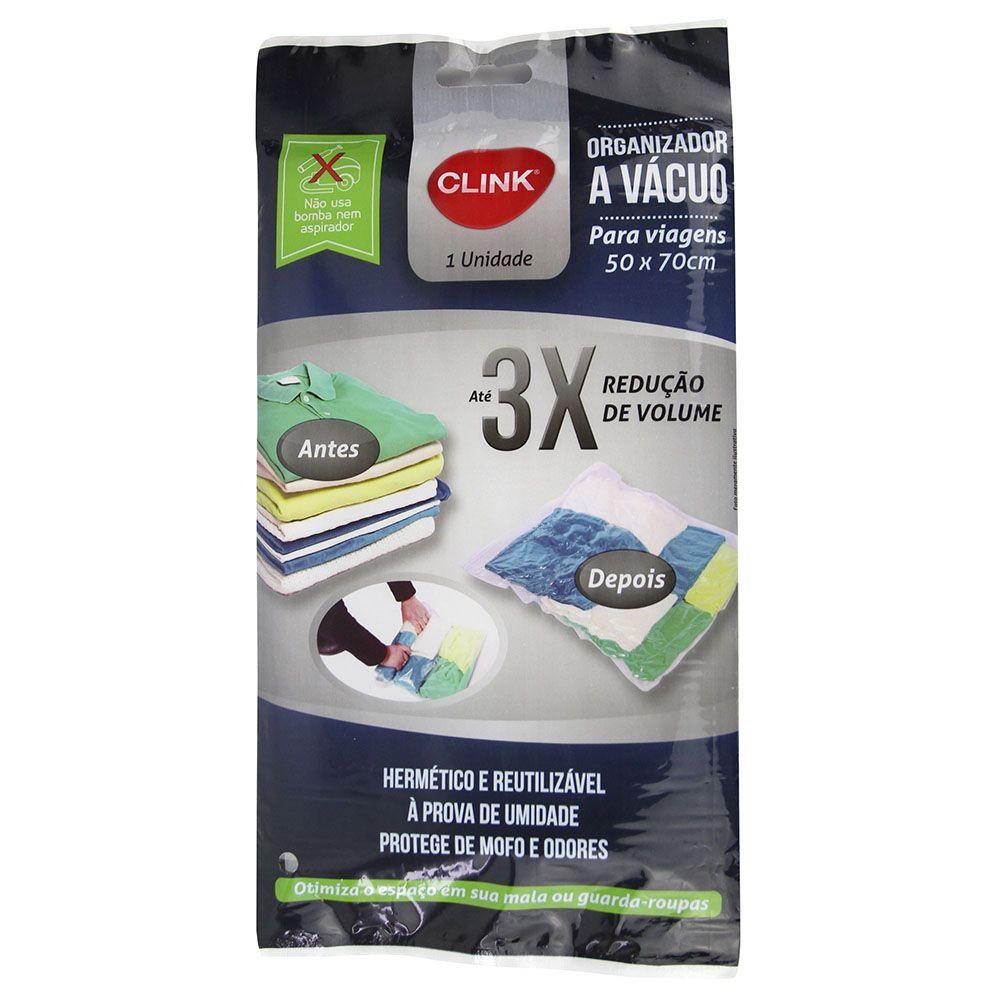 5 Sacos A Vácuo Organizador 50x70 não precisa de bomba CK2480-5
