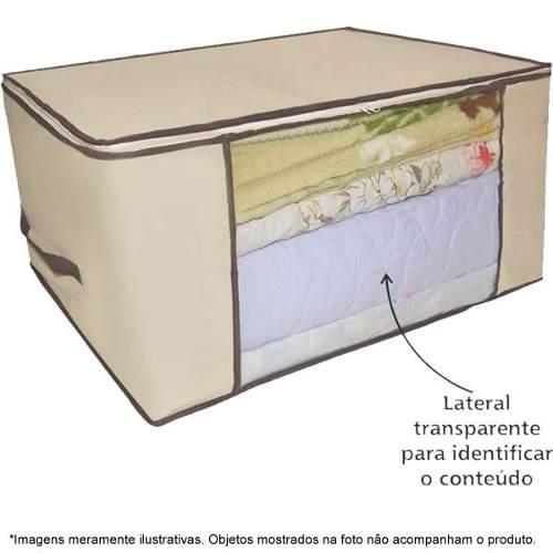 6572 3 Caixa Organizadora Flexível Visor Armário 45x30x20 6572