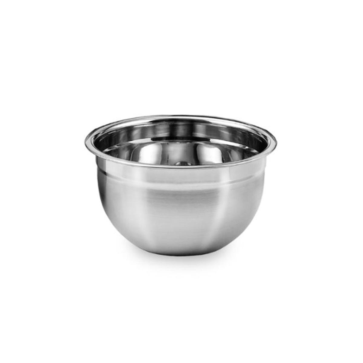 6 Tigelas Mixing Bowl Em Aço Inox 18 Cm Pratica e Durável Ke Home 3116-18-6