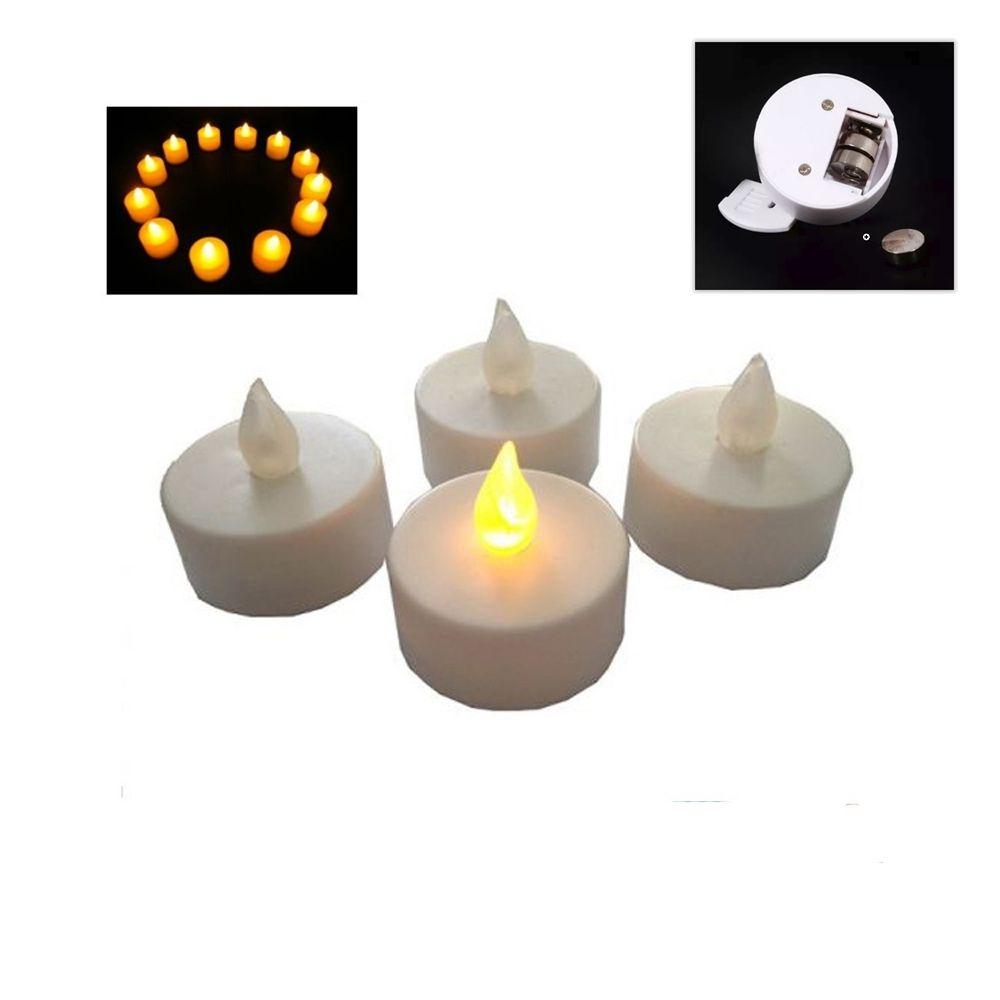 6 Uni Velas De Led Decorativas Baterias Inclusas - V02