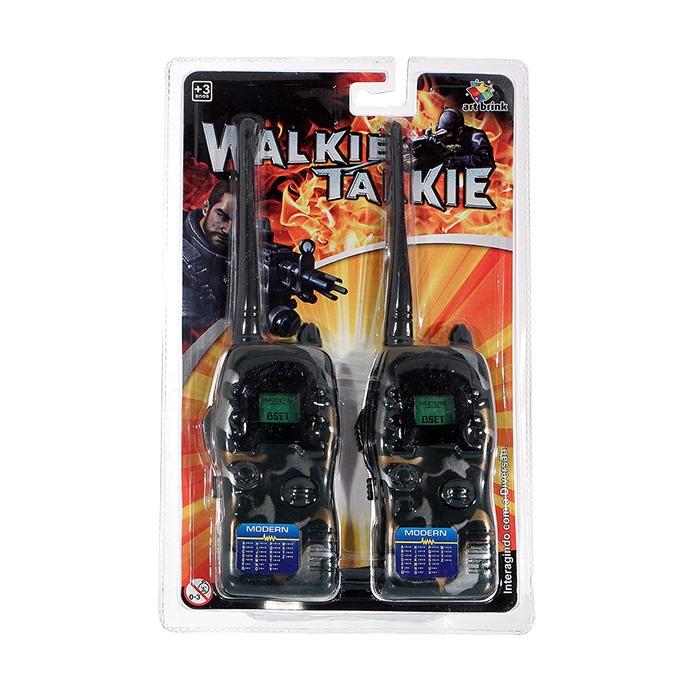 9051 - Walkie Talkie Rádio Comunicação Infantil Vigilante CAMUFLADO
