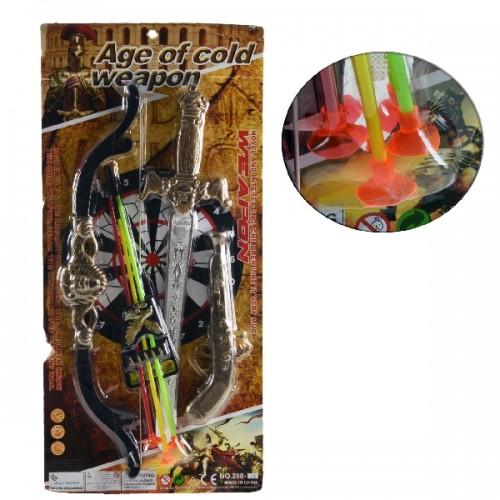 9089 - Brinquedo Arco Flecha + Espada e Pistola Infantil