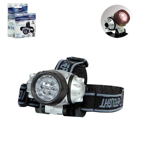 Lanterna 7 Leds De Cabeça Lum Alta + 3  Pilhas Alcalina 3001