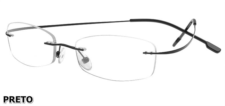 Armação P/ Óculos De Grau Sem Aro Em Titanium - varias Cores
