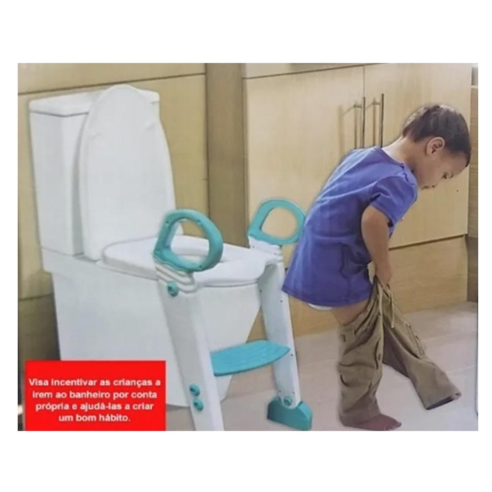 Assento Redutor Infantil De Vaso Sanitário Com Escada AM-3038