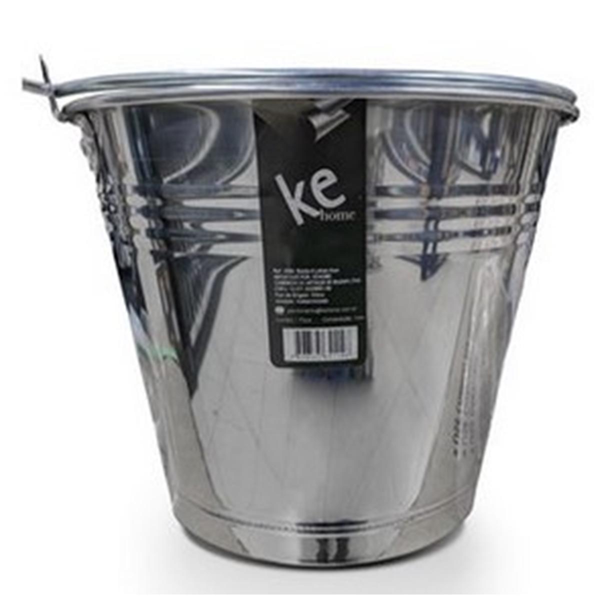 Balde de Gelo Com Pegador em Aço Inox 2,5 litros Ke Home 5781