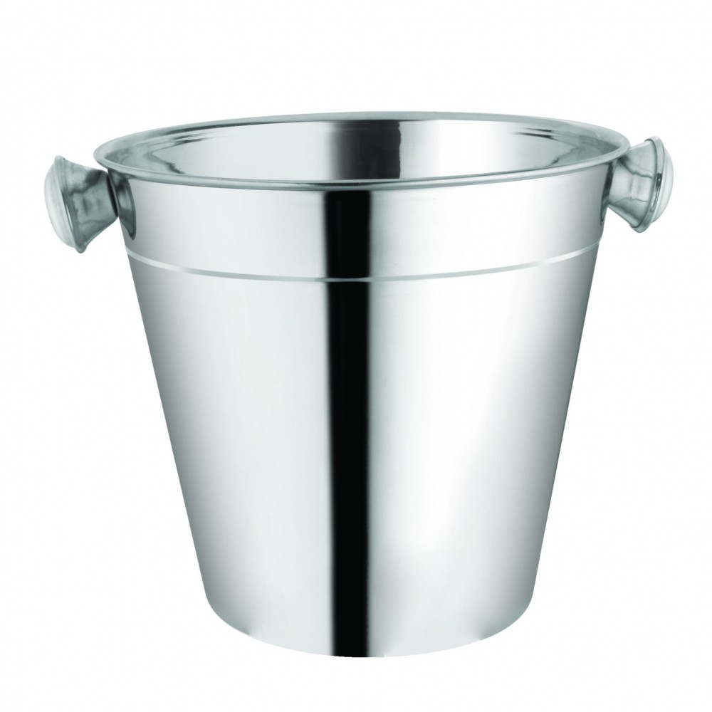 Balde de Gelo em aço Inox 1,2 litros alças laterais boca 14cm - CK1336