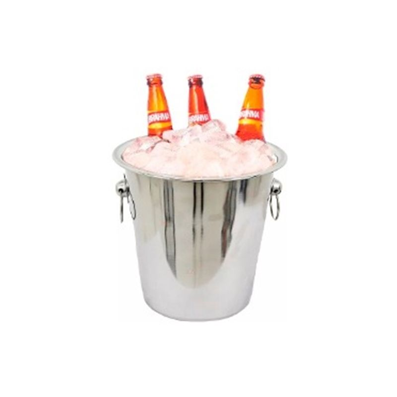 Balde Inox 4 Litros Champagne Bebidas Cervejas Vinhos Gelo WX4395