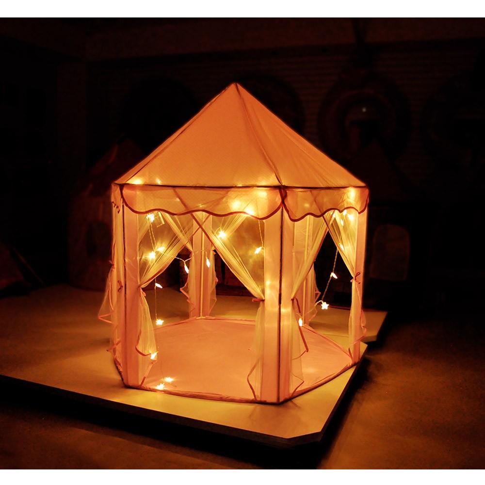 Barraca Tenda Iluminada Infantil Com Luzes Casinha DM Toys DMT5875