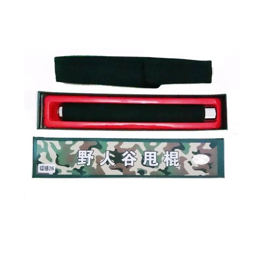 Bastão Cassetete Retrátil Aço Cromado Cabo Emborachado Bainha DS4255