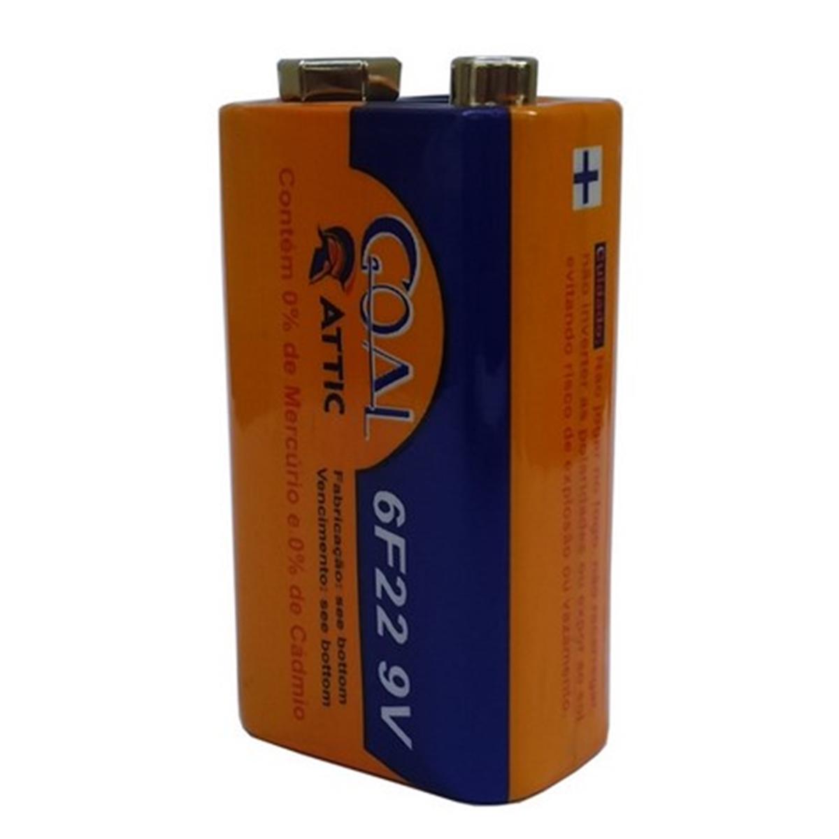 Bateria 9V 10 UNIDADES Multimetro Controle Lanterna Brinquedos Pilha Goal Attic 10 UNIDADES - GL-9V