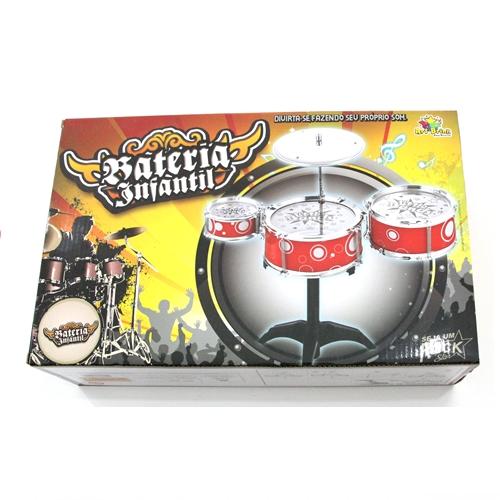 Bateria Instrumento Musical Infantil Diversão Brinquedo 9150