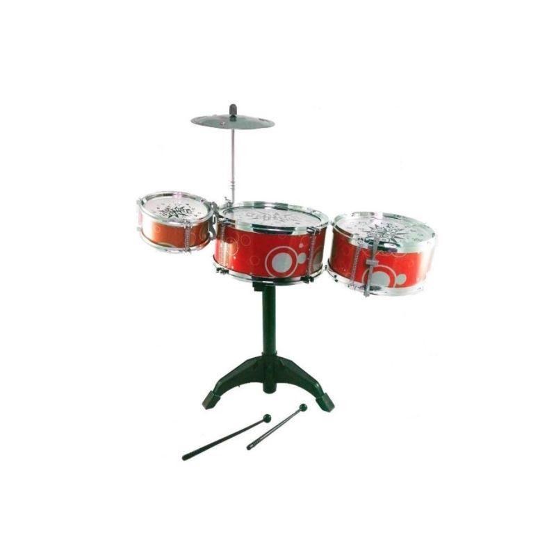 Bateria Musical Infantil First Band Com 3 Tambores Completa WB4193