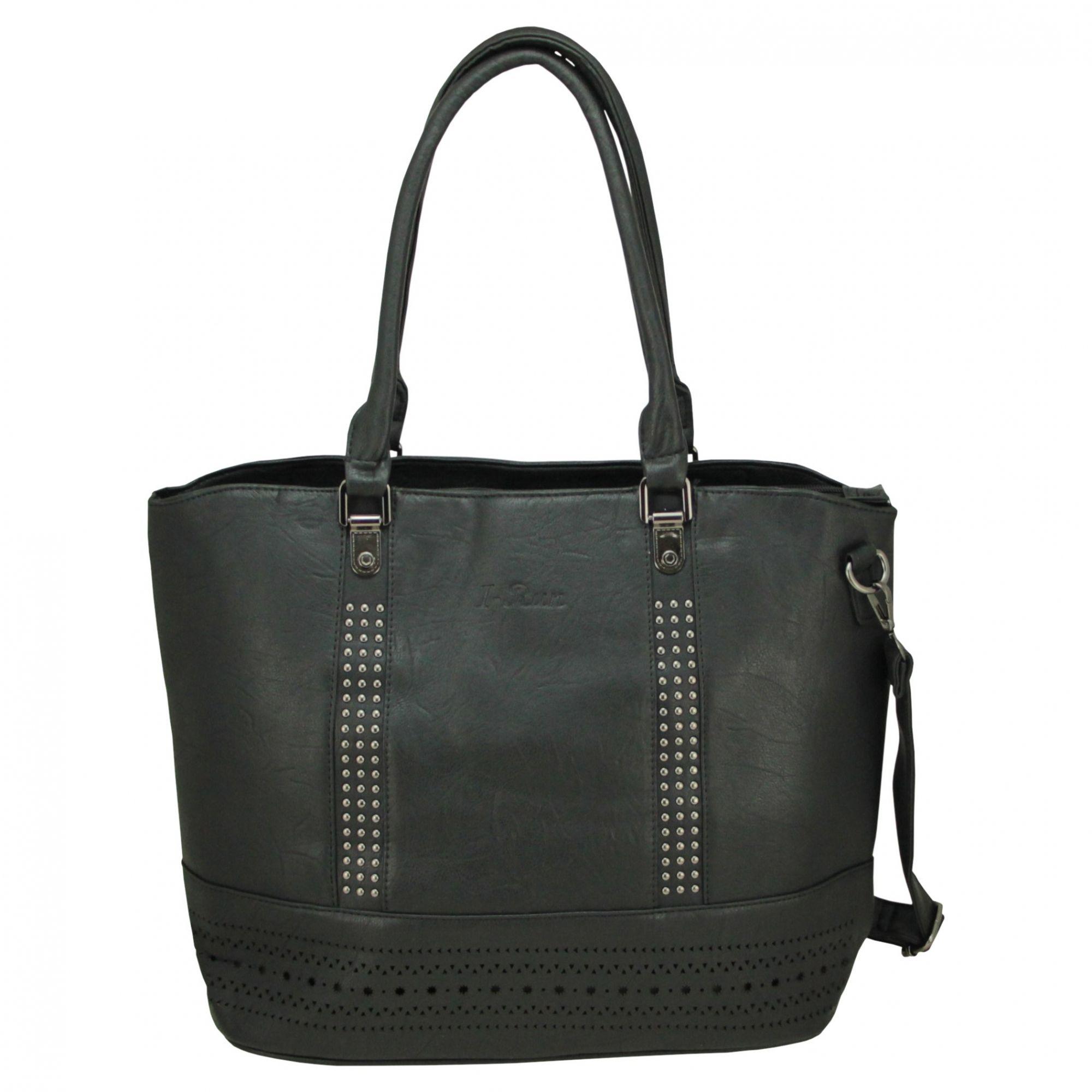 4518c9b10 Bolsa Feminina grande 2 Alças Transversal e ombro tiracolo IR050 - MMS Shop  ...