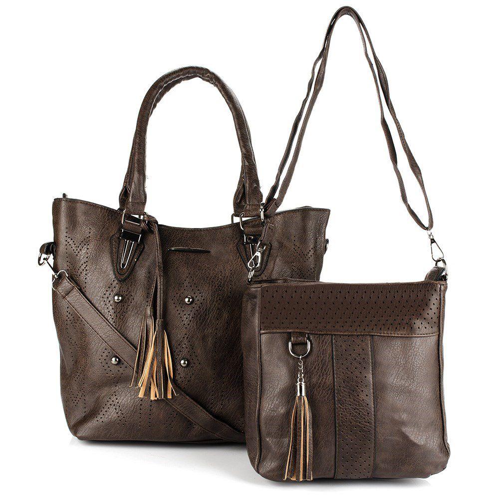 Bolsa Feminina kit com 2 Alça  Transversal e De Mão L-919
