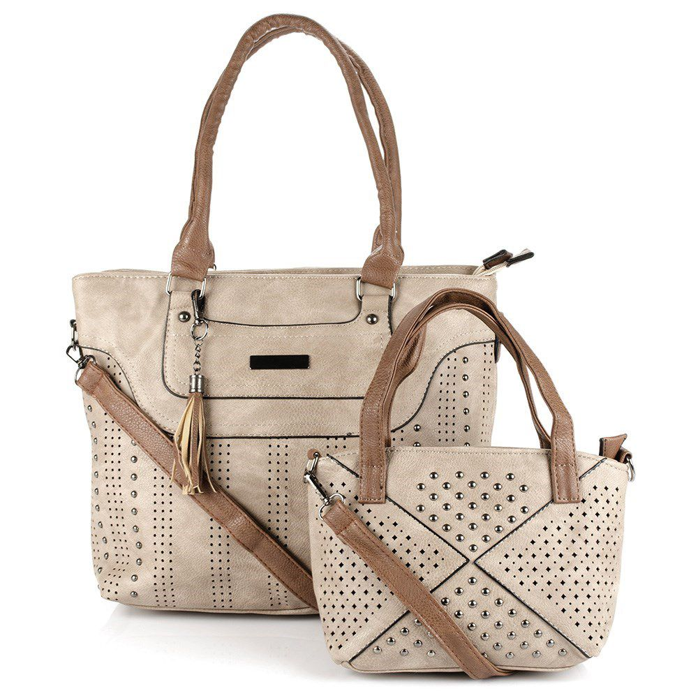 7dab7b7d1 Bolsa Feminina kit com 2 bolsas Alça Transversal e De Mão 4360# - MMS Shop  ...