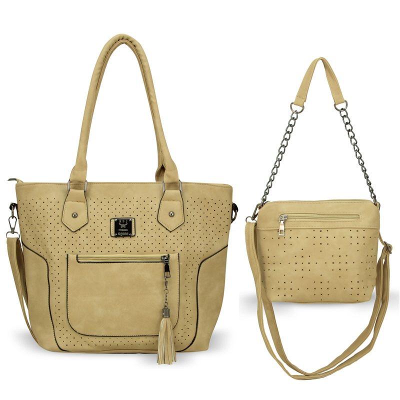Bolsa Feminina kit com 2 Bolsas Alça Transversal e De Mão BB-8201
