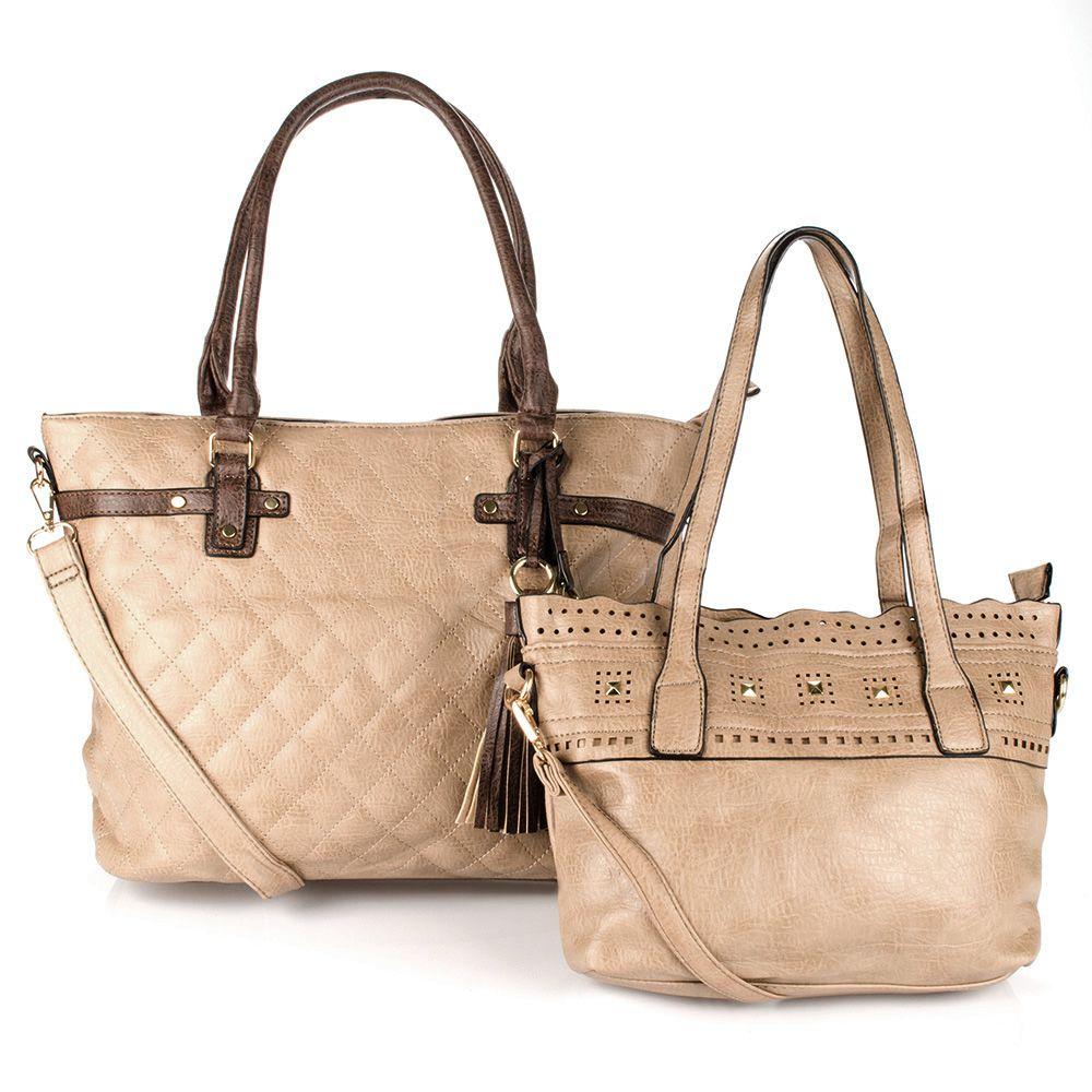 c40bd21ce Bolsa Feminina kit com 2 bolsas Alça Transversal e De Mão ED0108 - MMS Shop  ...