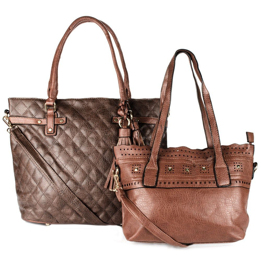 Bolsa Feminina kit com 2 bolsas Alça Transversal e De Mão ED0108