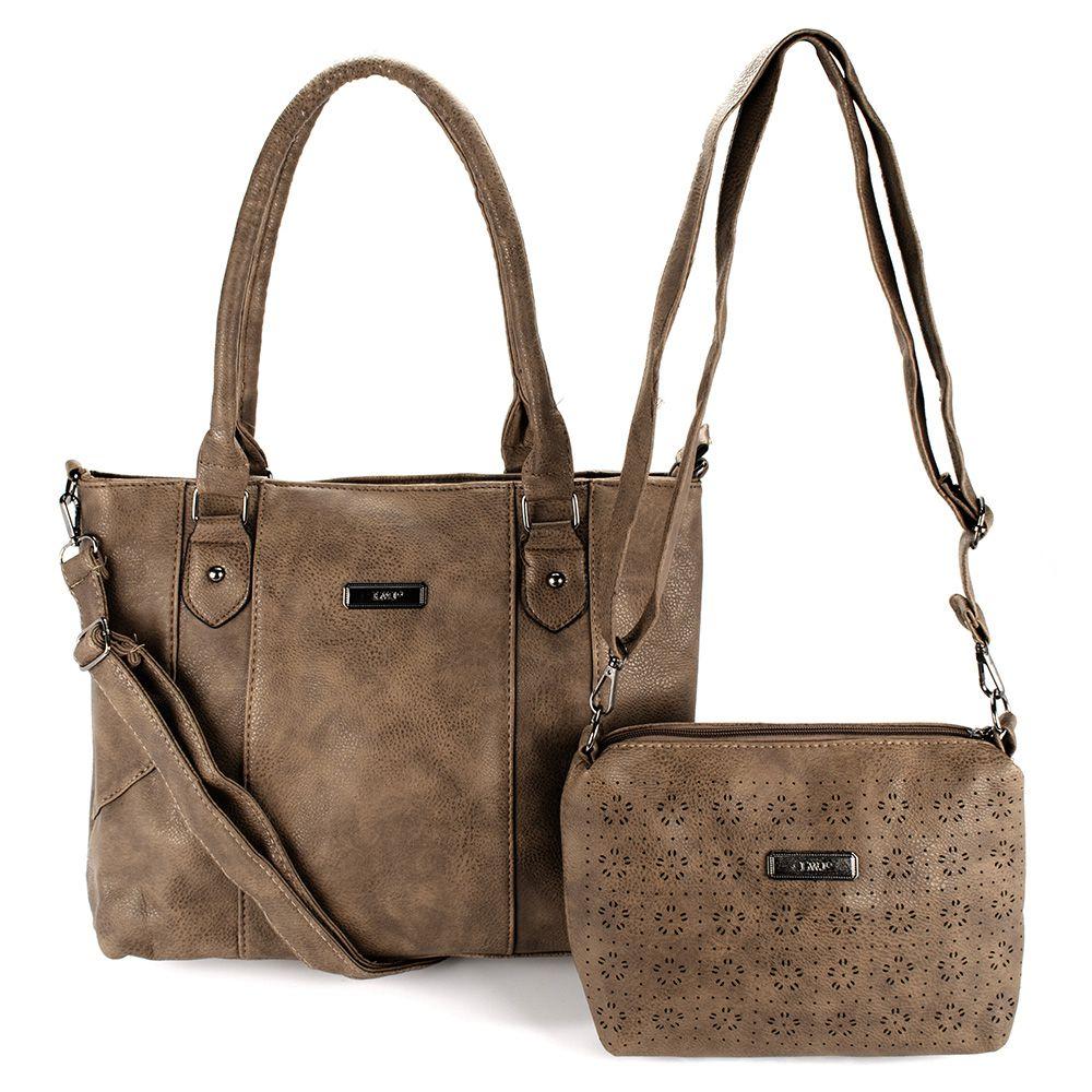 Bolsa Feminina kit com 2 Bolsas com Alça Transversal e De Mão L8628