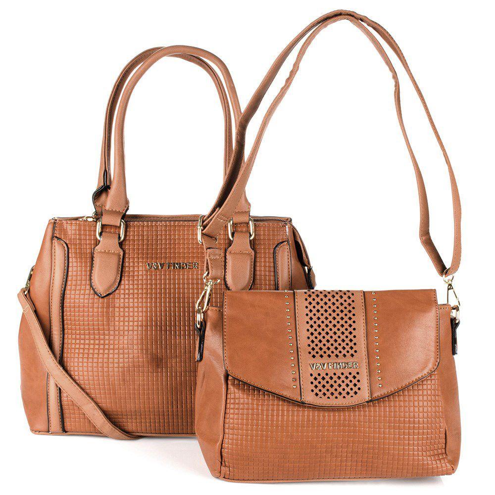 caeec4dba Bolsa Feminina kit com 2 bolsas Luxo V&V Finder VV-18259 - MMS Shop ...