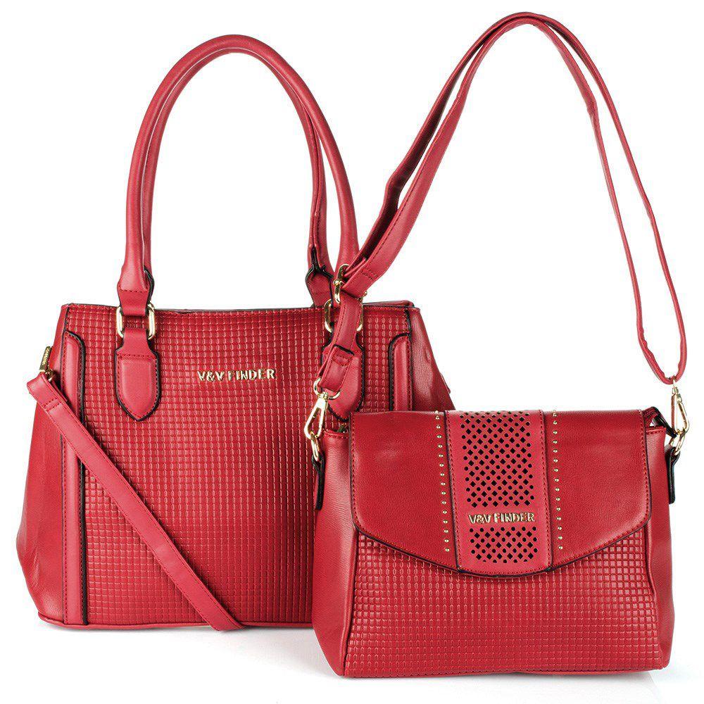 Bolsa Feminina kit com 2 bolsas Luxo V&V Finder VV-18259