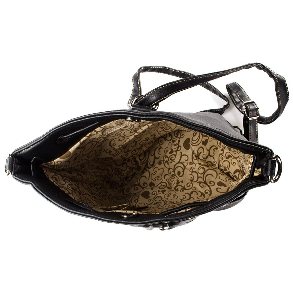 Bolsa Feminina Saco alça Transversal e tipo mochila W017